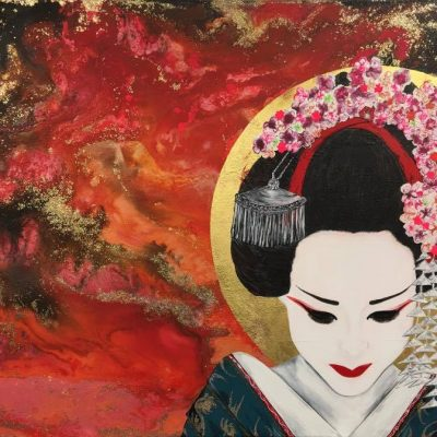 """Before Sunrise"" - The beautiful geisha on her way home before the sun rises. ""I had to wonder if men were so blinded by beauty that they would feel privileged to live their lives with an actual demon, so long as it was a beautiful demon."" ― Arthur Golden, Memoirs of a Geisha"