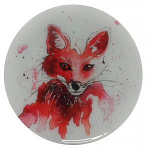 """Fantastic Mr Fox"" - Recycled Glass Wall Panel 20"" Diameter"