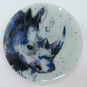 """Ronnie"" - Recycled Glass Wall Panel 20"" Diameter"