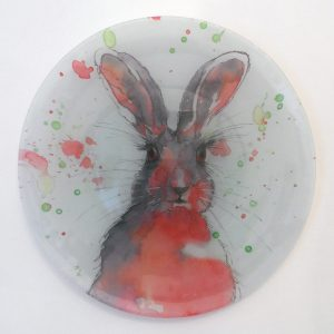 """Spring Has Sprung"" - Recycled Glass Wall Panel 20"" Diameter"