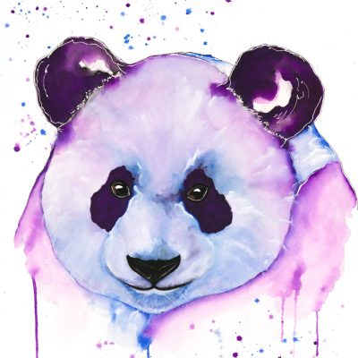 Panda II - Original Watercolour - 30 x 24 Inches (unframed)
