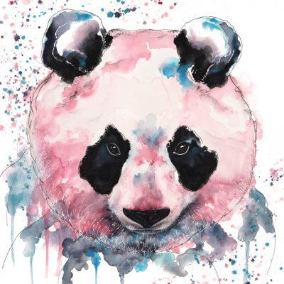 Panda - Original Watercolour - 30 x 24 Inches (unframed)