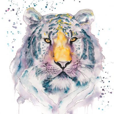 Tiger - Original Watercolour- 30 x 24 Inches (unframed)