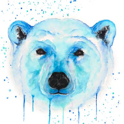 Polar Bear - Original Watercolour 30 x 24 Inches (unframed)
