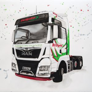 Redgate Truck - Original Watercolour on Arches 640gsm paper
