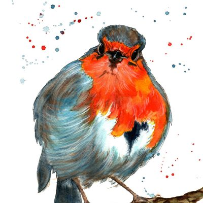 Jon the Robin - Original Watercolour - For Sale