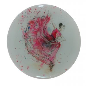 """Divine Grace"" - Recycled Glass Wall Panel - 20"" Diameter"