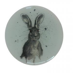 """Mr Grey"" - Recycled Glass Wall Panel 20"" Diameter"