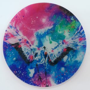 """Reverence""- Recycled Glass Wall Panel 20"" Diameter"