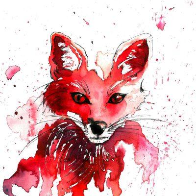 """Fantastic Mr Fox"" - SOLD -Original watercolour- Prints available"