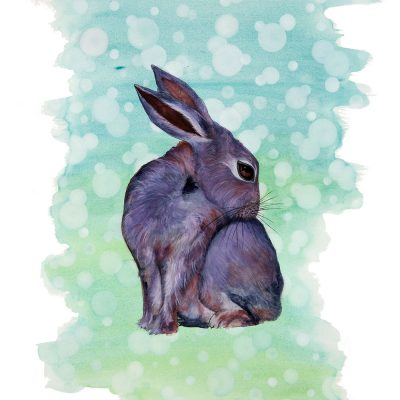 """Some Bunny Love Me"" - Original Watercolour for Sale - Prints Available"