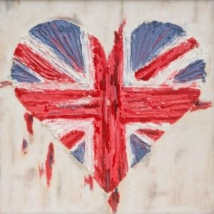 """SOLD - This heavily textured piece is called """"Heart of a Nation"""" in light of recent events here in the UK. This heart is made from concrete, symbolising a tough, loving nation that will never yield to terrorism"""