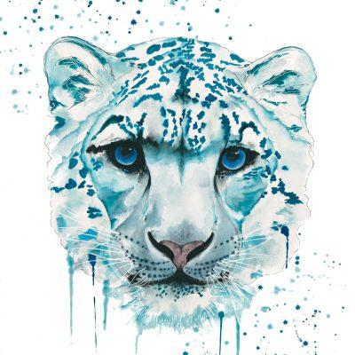 Snow Leopard - Original Watercolour - 30 x 24 Inches (unframed)