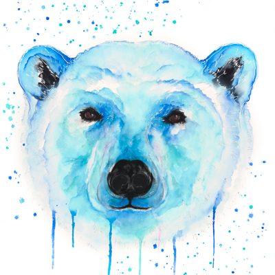 Polar Bear - Original Watercolour 30 x 24 Inches (unframed)