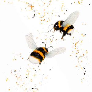 """Dance of the Bumble Bees"" - Original Watercolour"