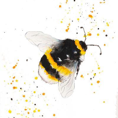 """Just Buzzing Around"" - Original Watercolour"